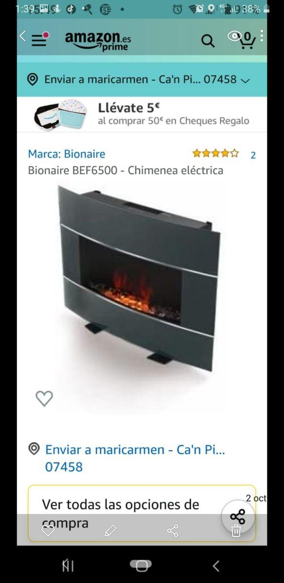 estufa eléctrica y decorativa
