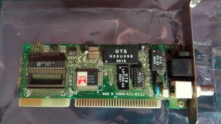 tarjeta Red con rj45 y cable coaxial