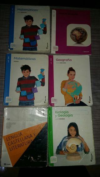 libros 2 eso, todos 30 euros, 10 e/ unidad.