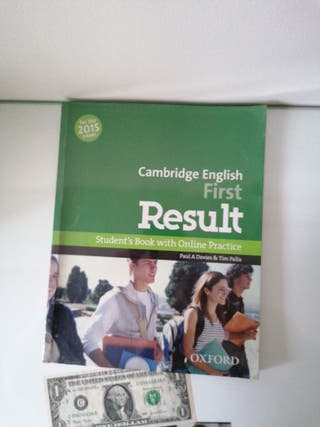Libro de Inglés Cambridge English First Result