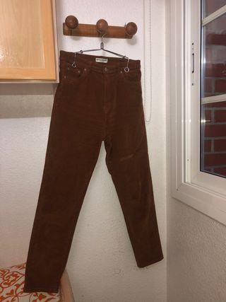 Pantalón de pana marrón PULL&BEAR