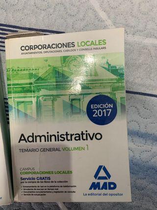 Libros oposiciones administrativo