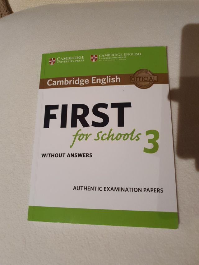 Libro Ingles preparación First cambridge.