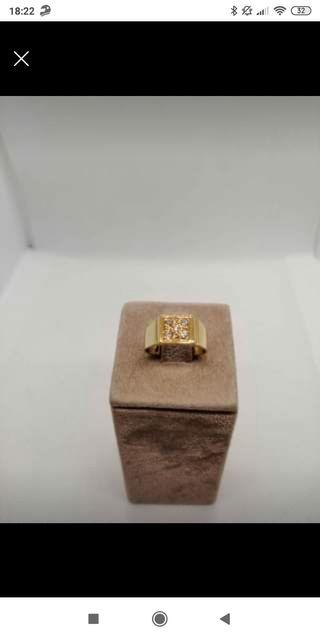anillo oro 18k y brillantes 5gr