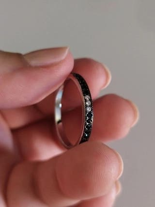 J.P Genuine Black Spinel Rings 925S.S