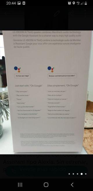Altavoz con Google Assistance tipo Alexa