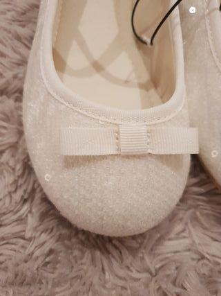 zapato manoletina comunión sin estrenar talla 31