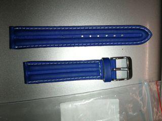 Correa reloj azul 18mm