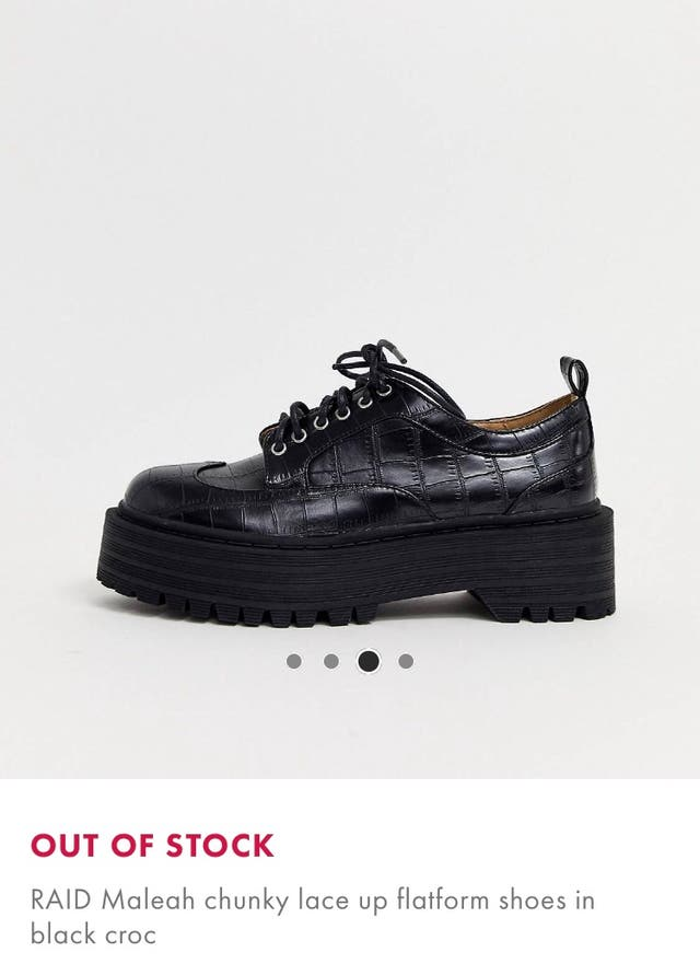 Black croc RAID flatform shoes