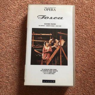Tosca Australian Opera Puccini VHS Tape