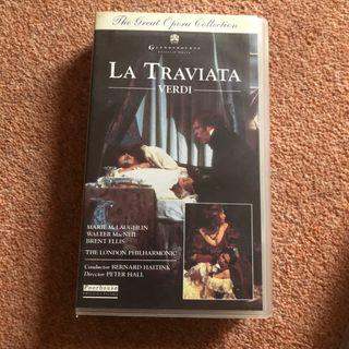 La Traviata Verdi Opera London P VHS Tape