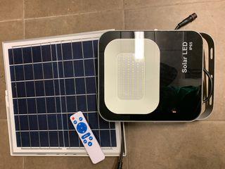 Foco led de30/60 100w BAteria carga,placa solar
