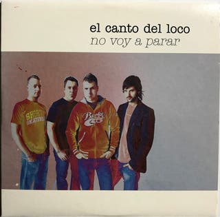CD Single El Canto del Loco. No voy a parar