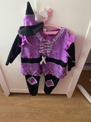 Disfraz Brujita halloween bebe de 6 a 12 meses