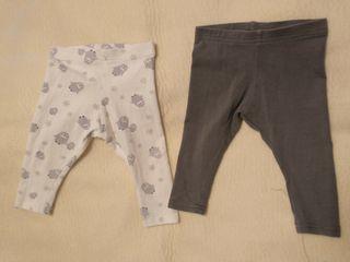 Dos leggings + dos camisetas, 74 cm