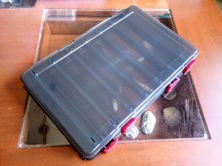 Caja Dura Doble Cara para Señuelos Negra 275x185mm