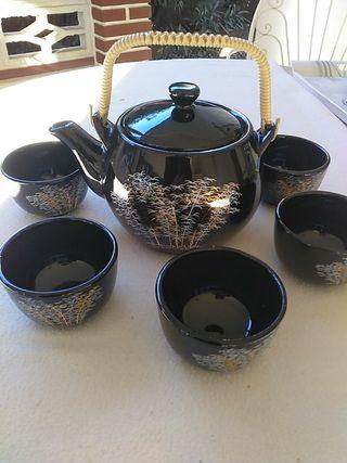 Ideal regalo de Navidad. Juego de té negro 6 tazas