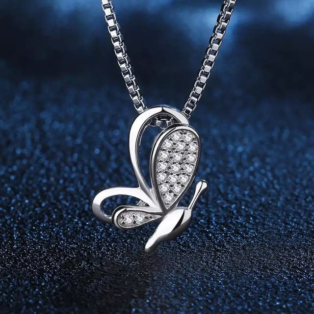 J.P Butterfly Pendant Necklace 925S.S
