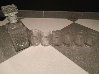 vendo vasos de wiski sin usar