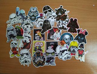 28 pegatinas manga Star Wars