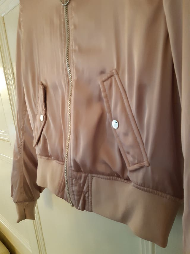 Gorgeous Silky Bomber Jacket