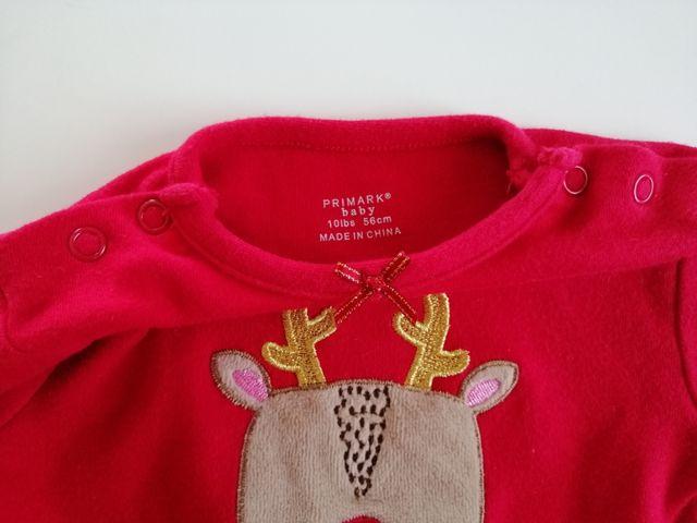 Pelele Navidad PRIMARK, talla 1 mes
