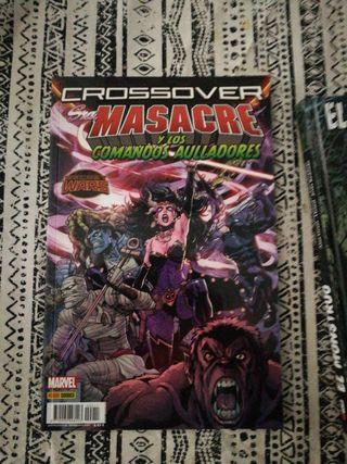 sra. Masacre y los comandos aulladores. cómic