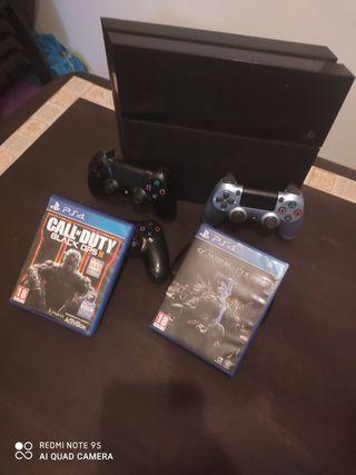 Vendo PlayStation 4 de 1Tb con 4 mandos y juegos