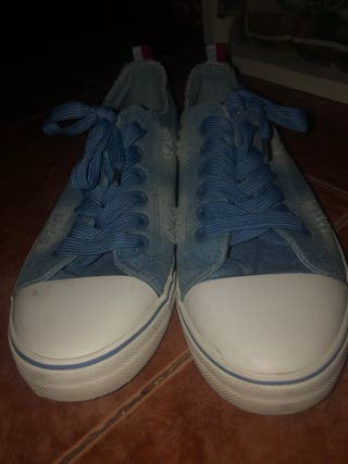Zapatillas cómodas tela vaquero