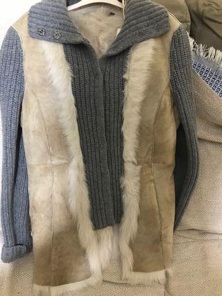 Tres cuartos de cuero y lana