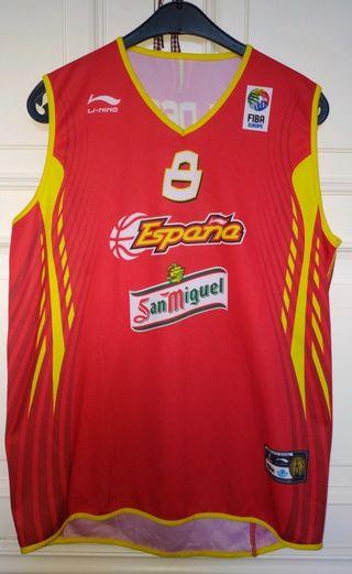 Camiseta Selección Española Baloncesto Calderón