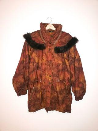 Parka estilo vintage, capucha, talla M grande