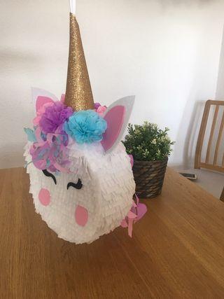 piñata unicornio para cumple en casa!