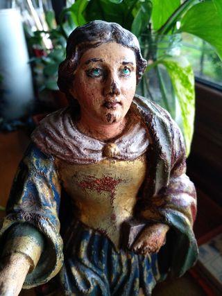 Escultura, imagen religiosa de madera policromada.