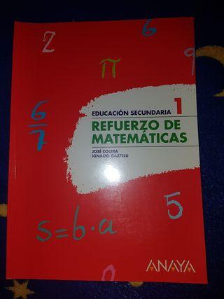 Libro Refuerzo de matemáticas 1 Eso