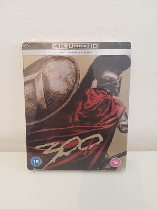 300 UK EXCLUSIVE 4K ULTRA HD BLU RAY STEELBOOK
