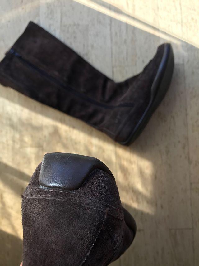 Botas planas de piel mujer - Talla 38