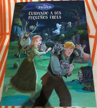 Libro cuento Frozen Cuidando a los trolls Disney