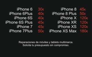 iPhone cambio pantallas