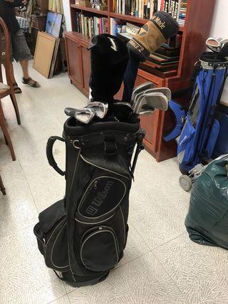 Bolsa Wilson y palos de Golf varias marcas