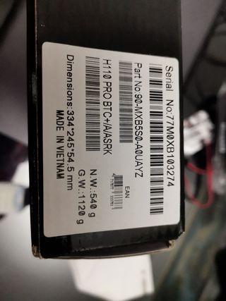 Placa base Asrock H110 Pro BTC+