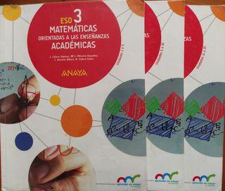Matemáticas Académicas 3 ESO - Anaya