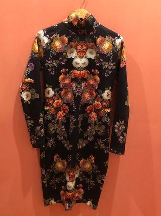 Vestido estampado japonés