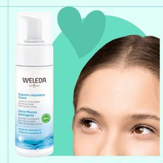 Espuma facial limpiadora suave weleda