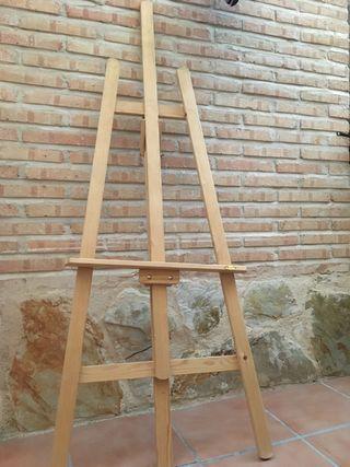 Caballete pintor de madera