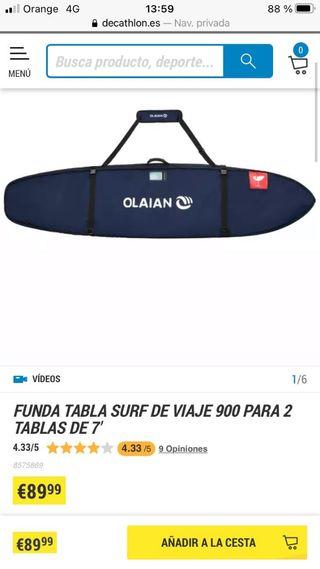 funda tabla surf