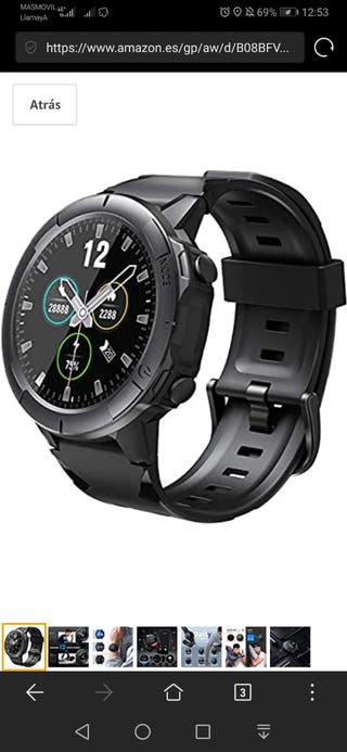 Arbily Smartwatch Hombre, Reloj Inteligente con Pa