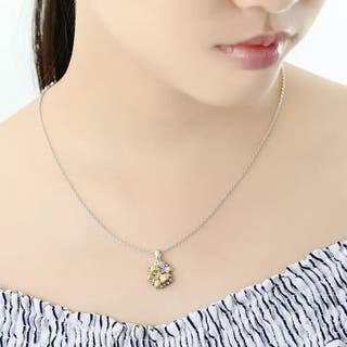 Sterling Silver Necklace Pendant Natural Ston