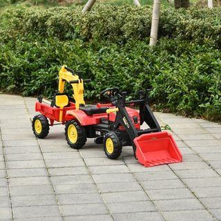 Tractor a Pedales con Remolque Excavador con Pala