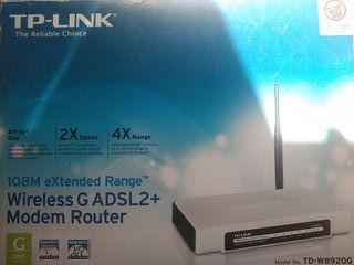 Enrutador inalámbrico DSL de 108 Mbps de rango ext
